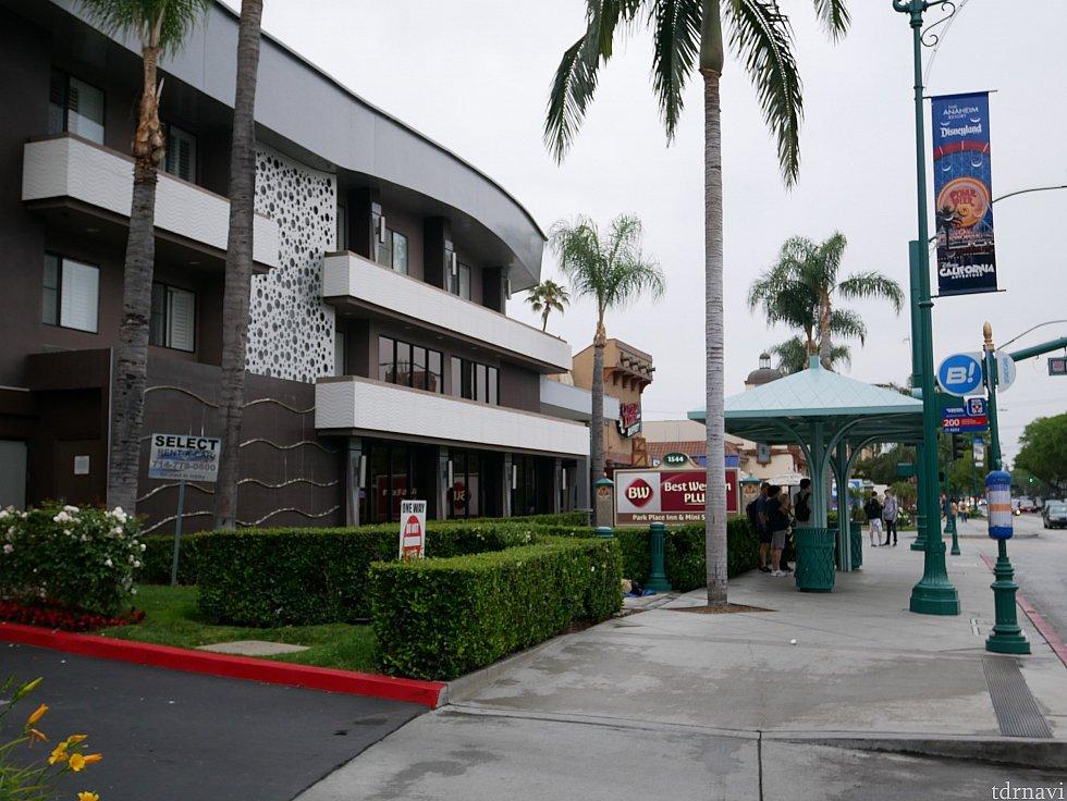 私が集合場所に指定したBest Western Park Place Innホテルです。ここの隣りのホテルに宿泊していました。