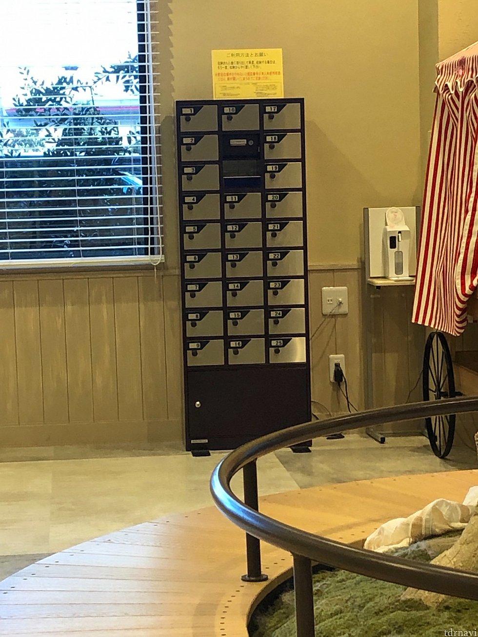 セフティーBOXはフロント横にあります。