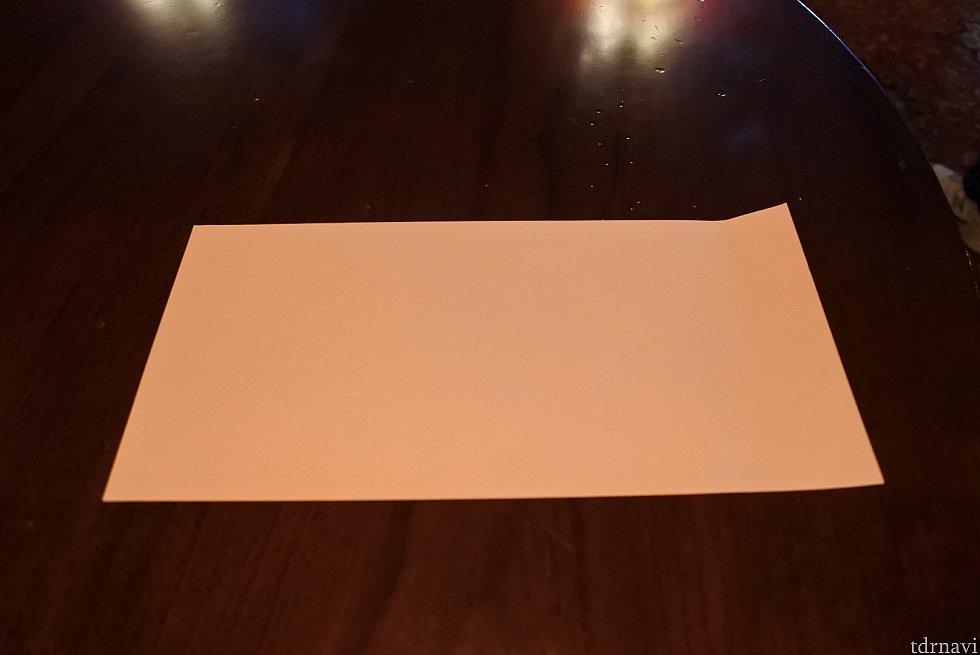 長方形の折り紙もありました。