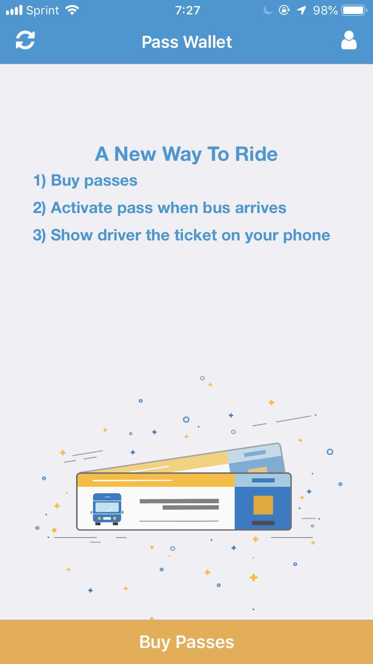 利用方法が書いてありました。乗車券はカード決済できます。アプリによると、乗車時にスマホ画面の直接電子チケットを運転手さんに見せればいいようです。
