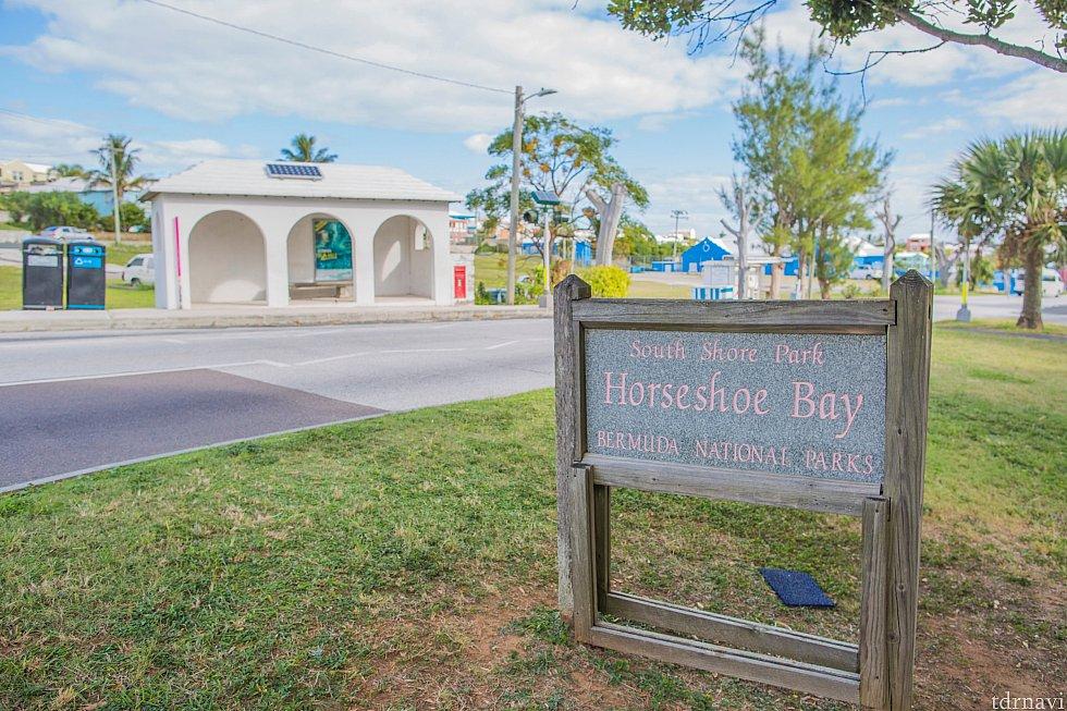 horseshoe bay beachの最寄りバス停