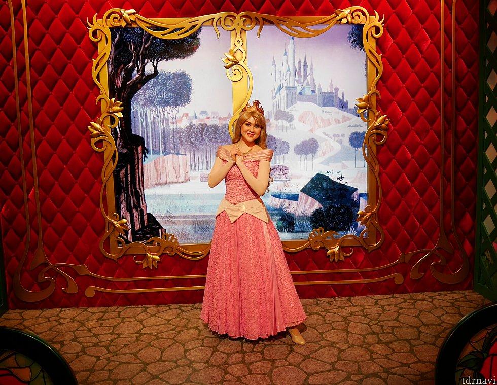 オーロラ姫!ちょっと背景がさみしい色…。