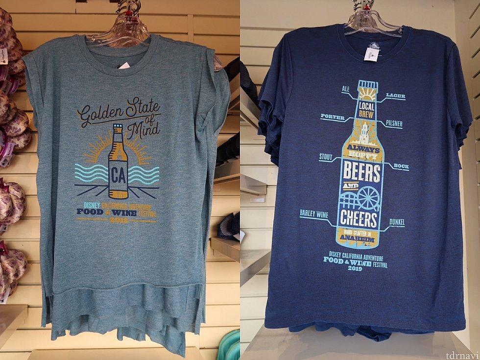 Tシャツ/左:32.99、右:34.99