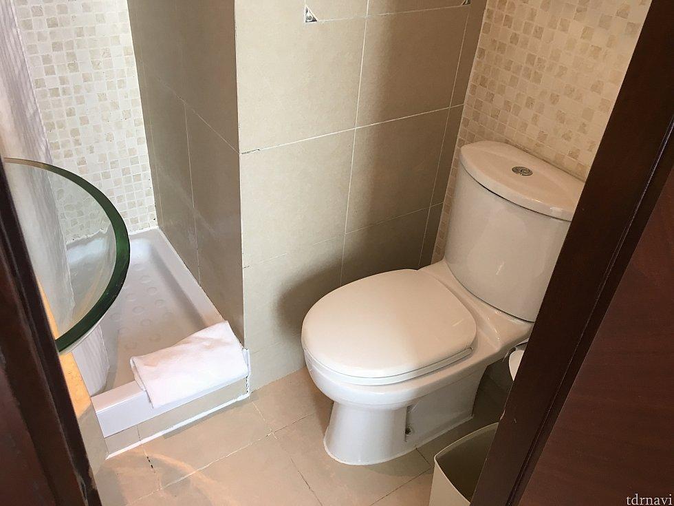 向かいにはトイレ。シャワーとトイレが分かれているのはありがたし!