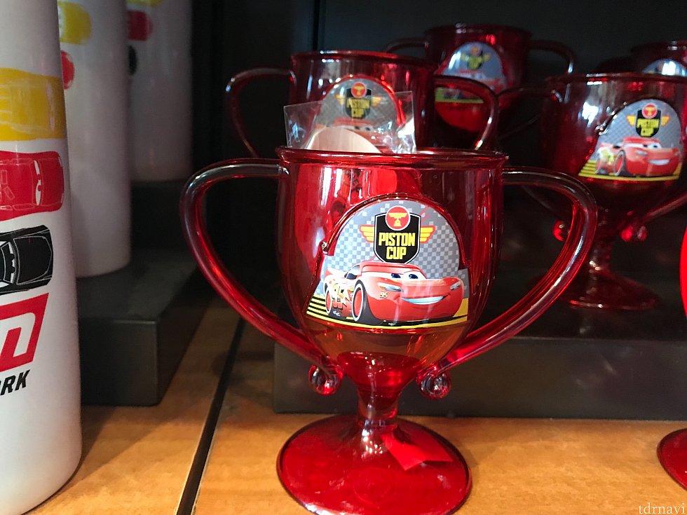 カーズ ランド限定 ピンストンカップモチーフ プラスチックのコップ