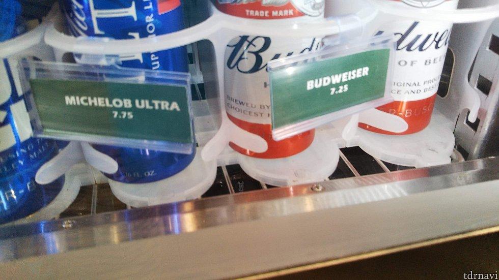 ホテル内のビールのお値段。 ネットスーパーのほうが安いですが、今回はダイニングプラン期間でしたのでネットスーパー利用せずホテル内のビールを買いました。