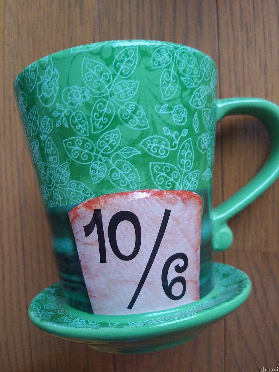 マッドハッターの帽子のマグカップ。タイ製。€16.99