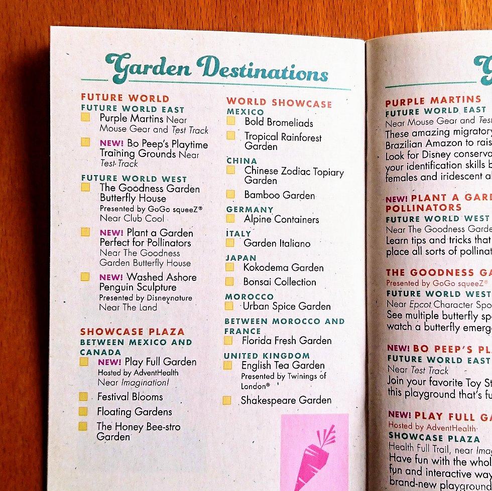 ブックレットにもガーデンのリストが載っています。
