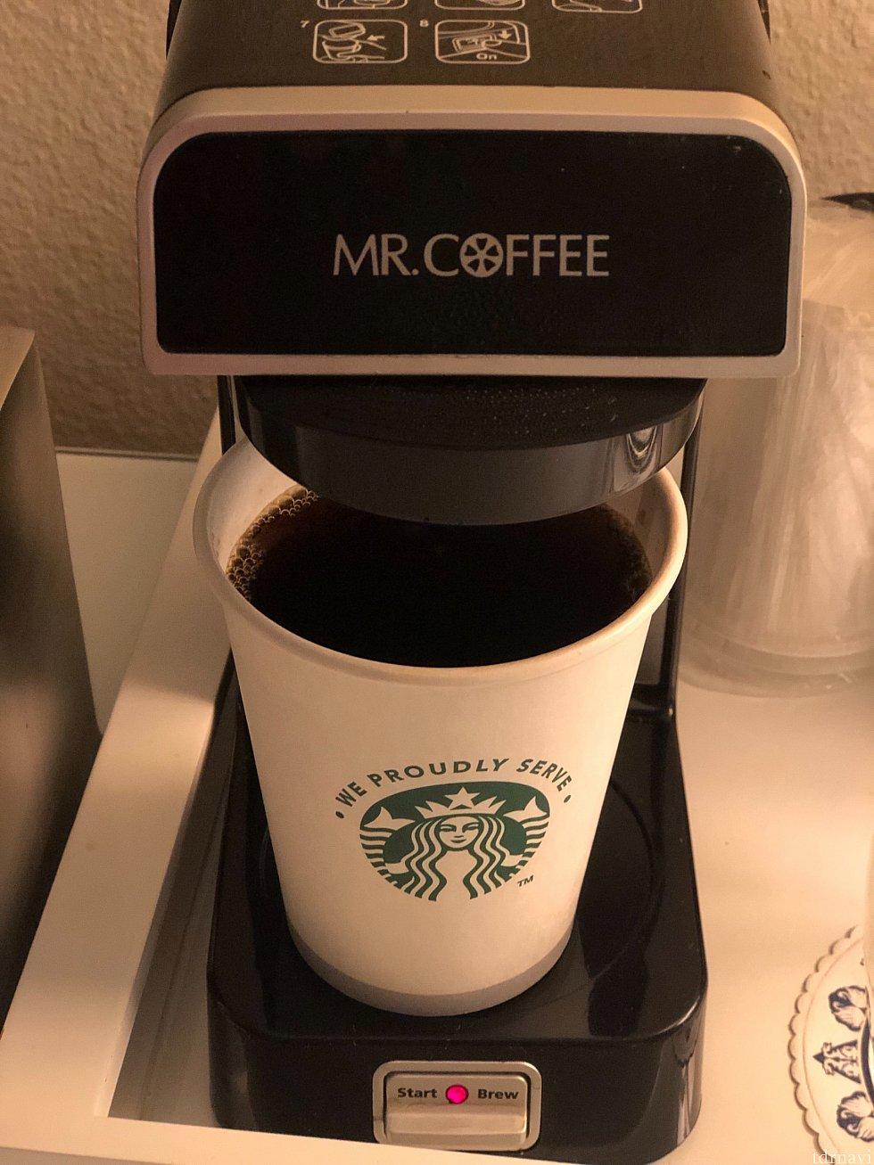 スタバのコーヒーが飲めてありがたいスワン