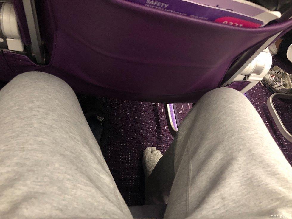 男性(175cm)が座った場合の席