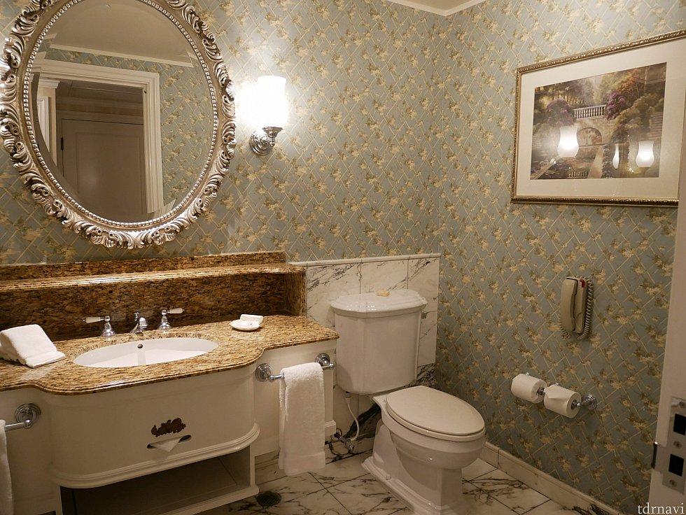 トイレも広い!
