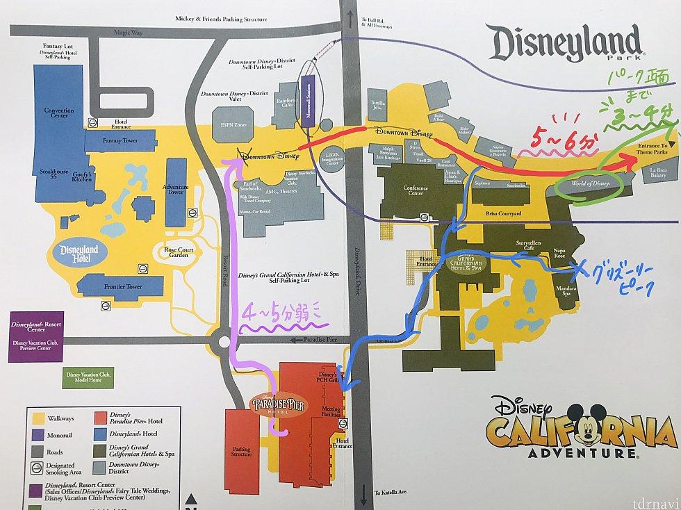 ホテルでチェックインの際もらった地図