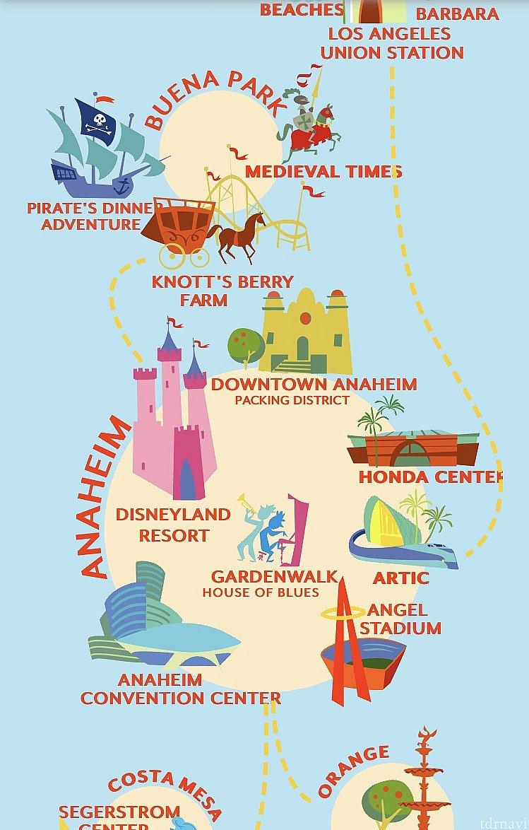 ディズニーランドリゾート以外にもアナハイム周辺のいろんな場所へARTで行かれます。