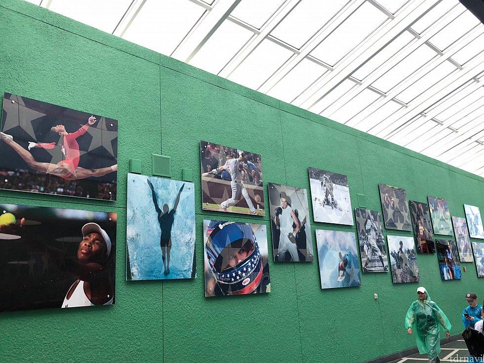 スポーツという名の通り、有名な選手の写真が飾ってあります。