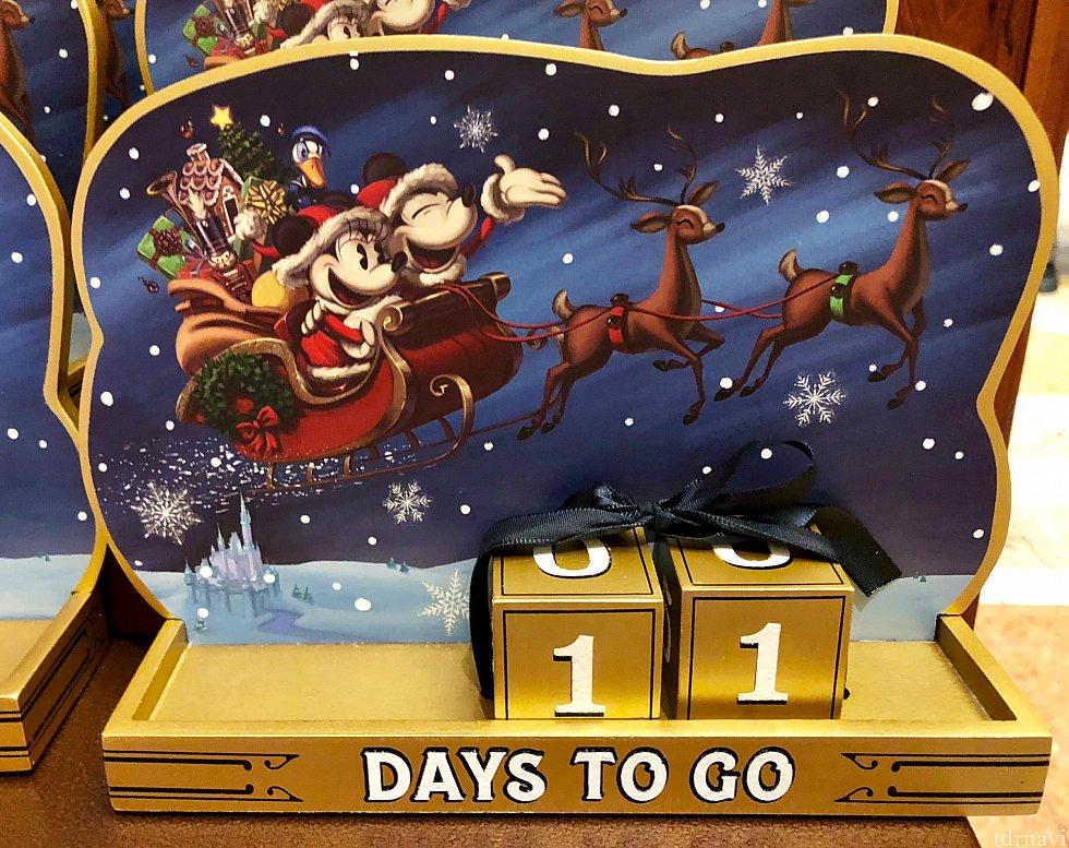 こちらはクリスマスまでのカウントダウンが出来るグッズ。子供さんで無くてもカウントダウンと言うのはワクワクしますよね。