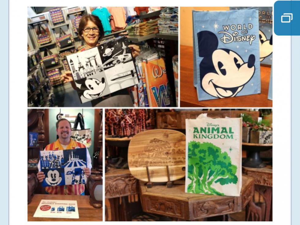 ディズニーパークス・ブログの画像をお借りしました。 右上がワールドオブディズニーの物。 右下はアニマルキングダムの物。