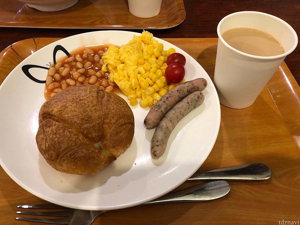 私が食べた朝食です~。