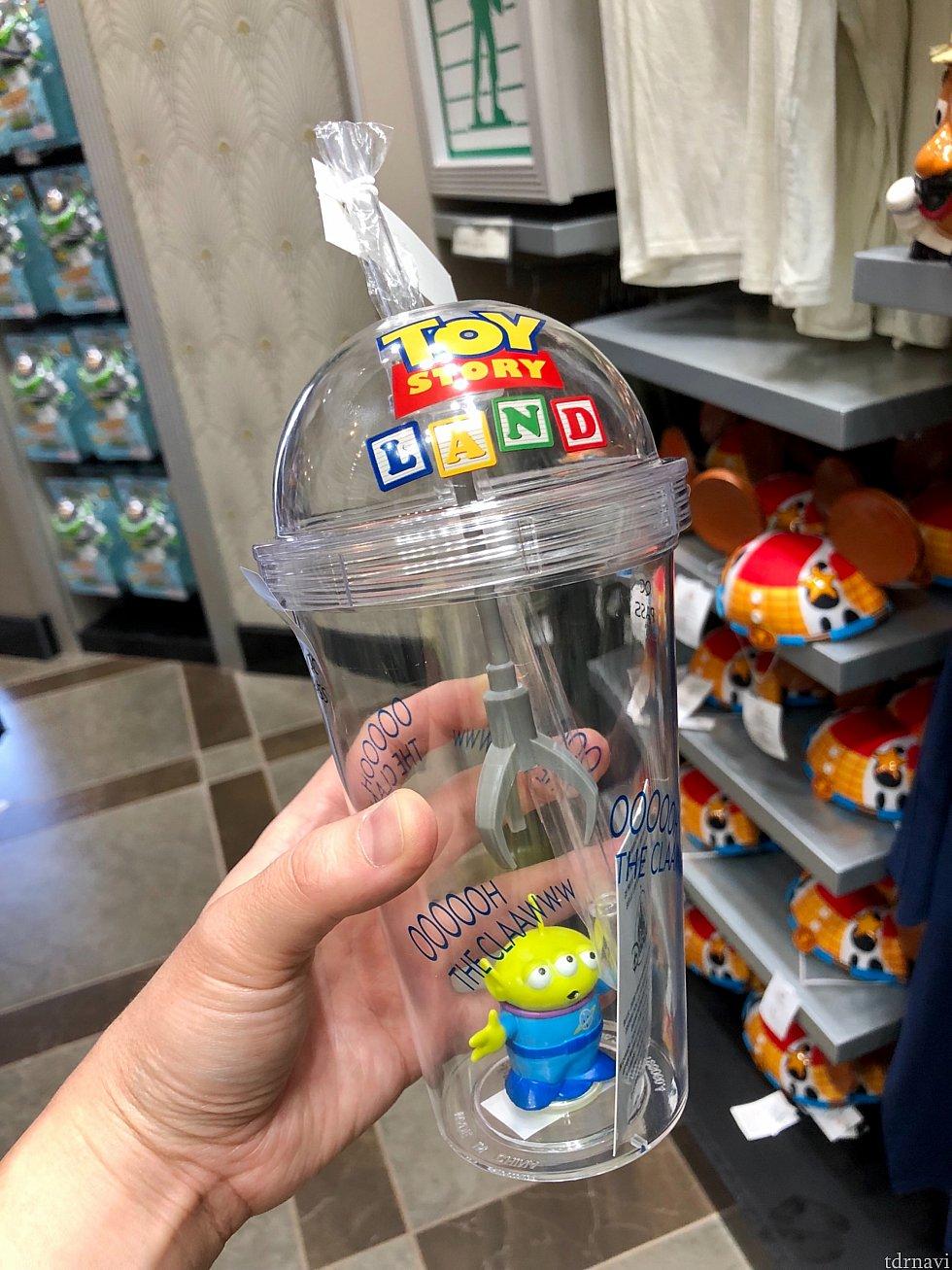 これも良かった!グリーンエイリアンが中に入ったドリンクカップ。ちゃんとClawだって付いているんです!