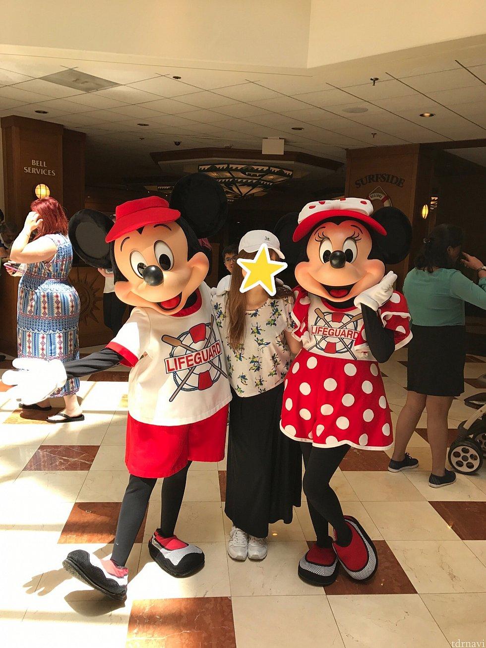 ミッキーとミニーちゃんのペアグリ!!バラバラでグリしてたのですがタイミング良くペアでした♪