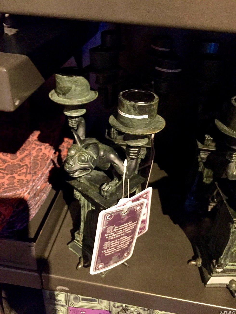 キャンドルホルダー。これが誰かの家にあって、暗い中キャンドルが灯ってたらちょっと引きます。(笑) お値段$44.99