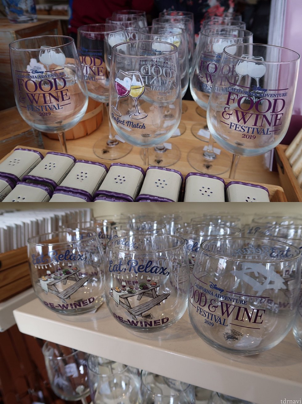 上:ワイングラス、下:グラス/どちらも$14.99