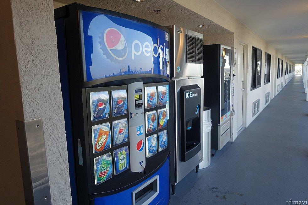 各フロアに自動販売機がありました
