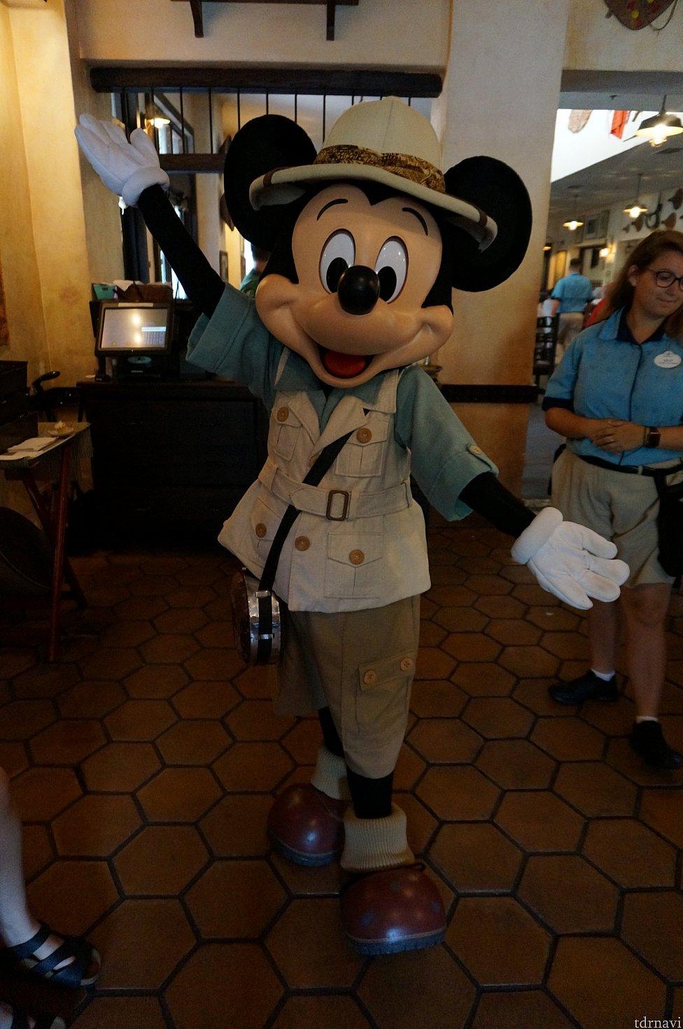 ミッキー!紳士的でした。