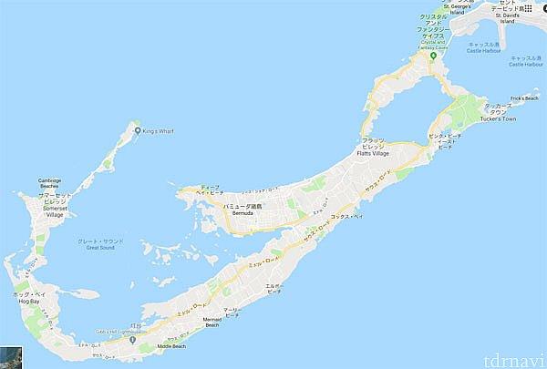 とーっても細長い島。 東側へ移動してみたかったが時間がなくて(´;ω;`)ウッ…