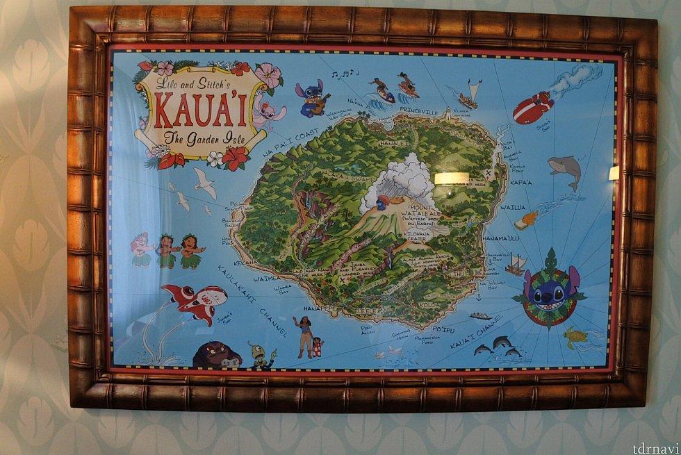 ハワイの地図もありました!