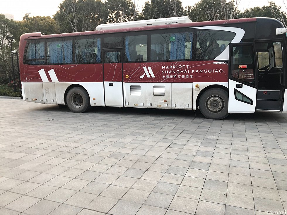 マリオットホテル専用シャトルバスです。