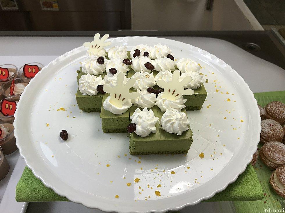 抹茶ムースケーキ。