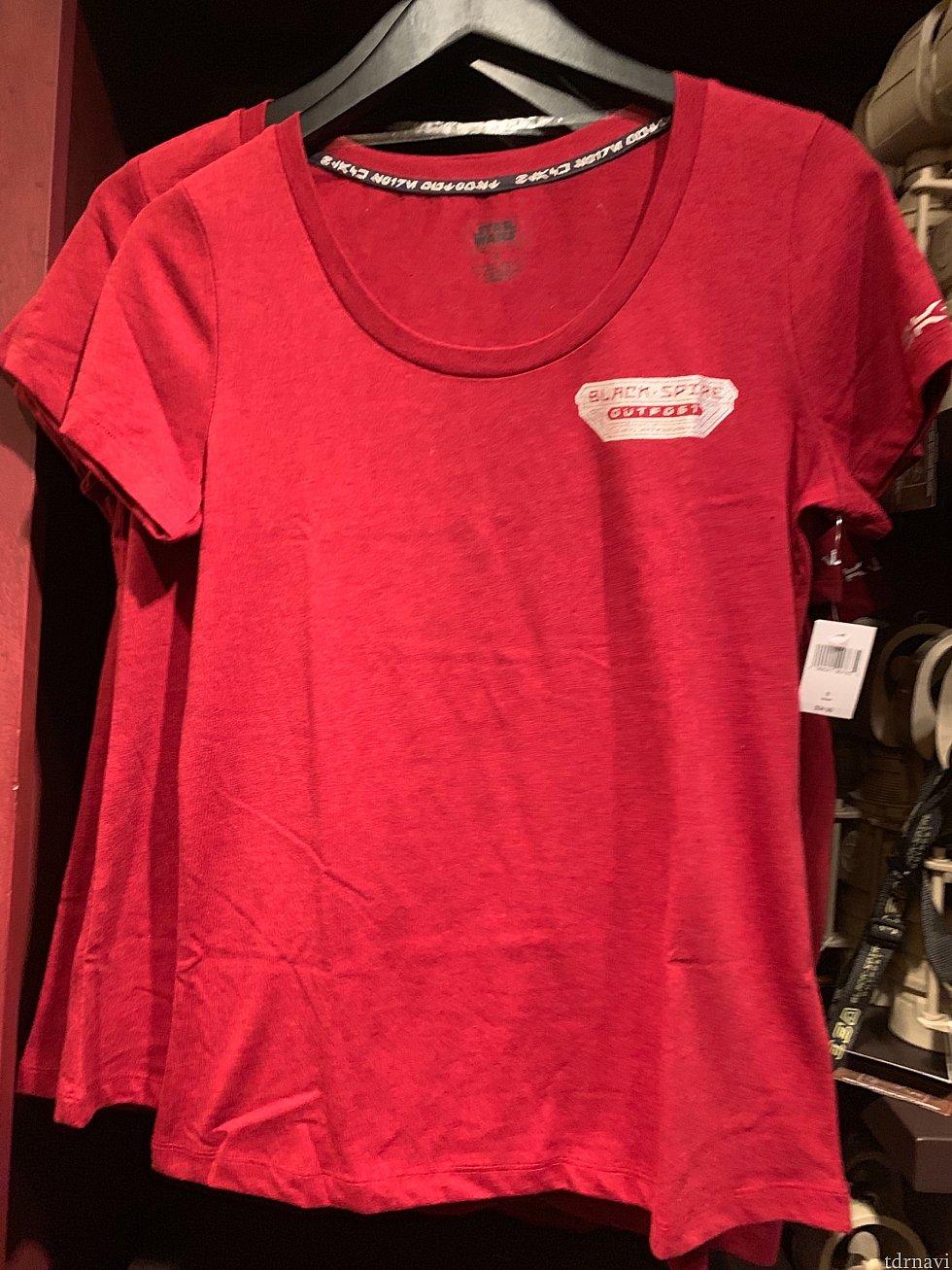 レディース用Tシャツ。 35ドル。