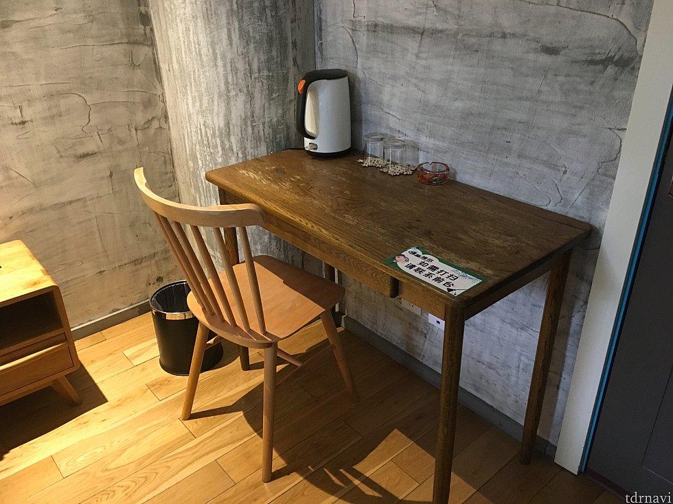 机も。仕事をするには有難い広さです