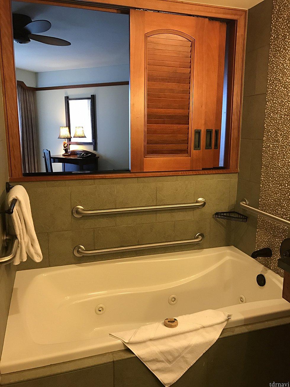ジャクジー付きのお風呂これは2つ目のお部屋の方のお風呂です