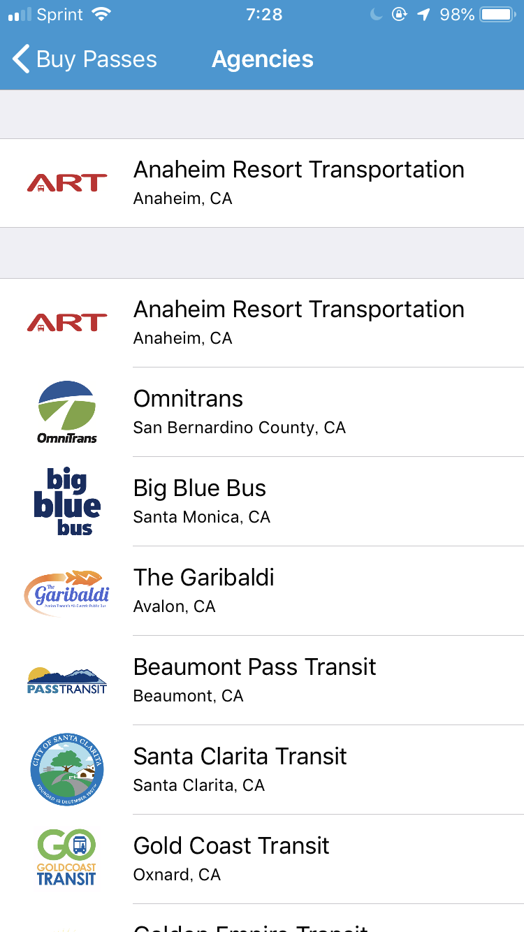ARTだけでなく、他の路線バスの電子チケットも購入できる仕組みでした。