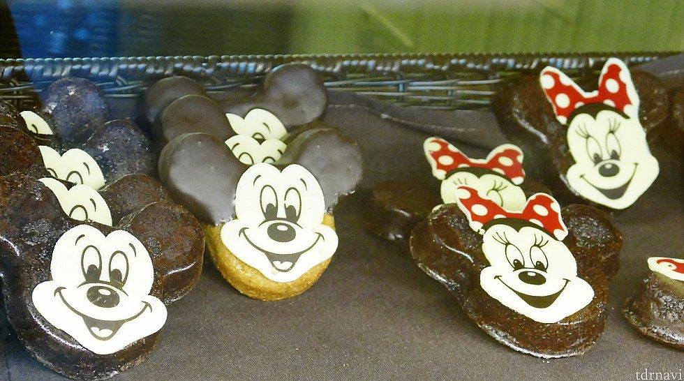 ミッキーはクッキーバージョンもありました♪