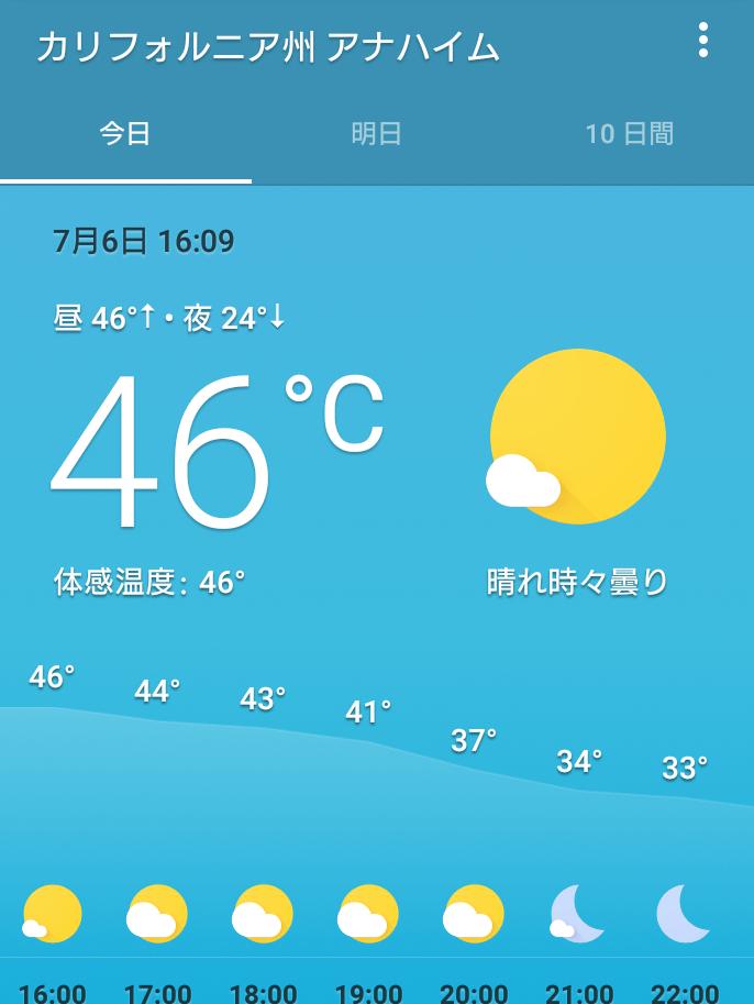 鑑賞した日の気温。日向は灼熱&熱風でした。ただし、湿度が低いので香港のような蒸したような暑さでなく、カラッとした暑さです。個人的には香港の32℃よりも過ごしやすかったです。