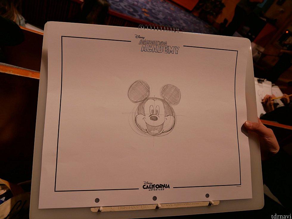 そしてその子の描いたミッキー、なんでこんなに上手く描けるんだ