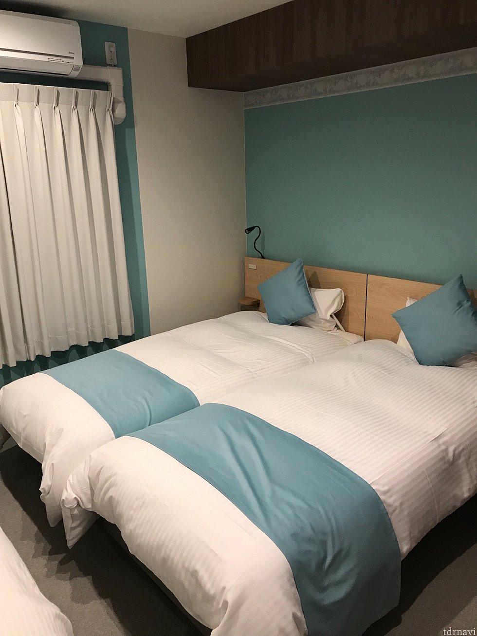 部屋は3人宿泊出来る部屋でした。
