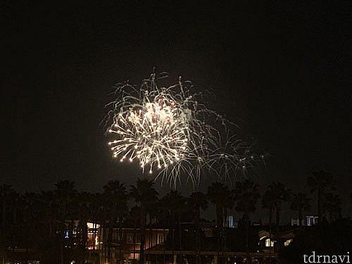 花火もばっちり見えました。