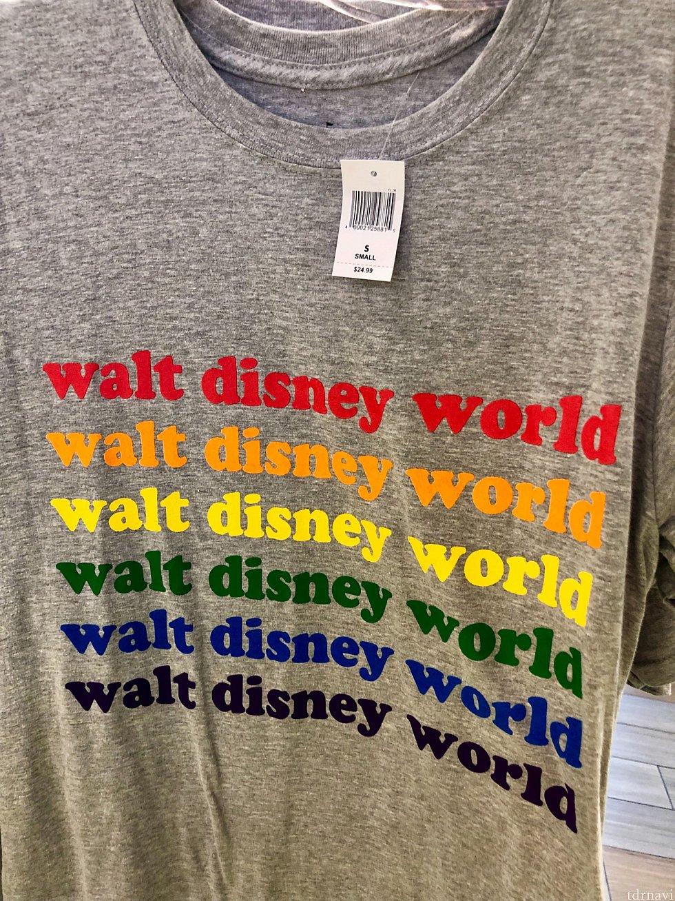 こちらのTシャツは$24.99