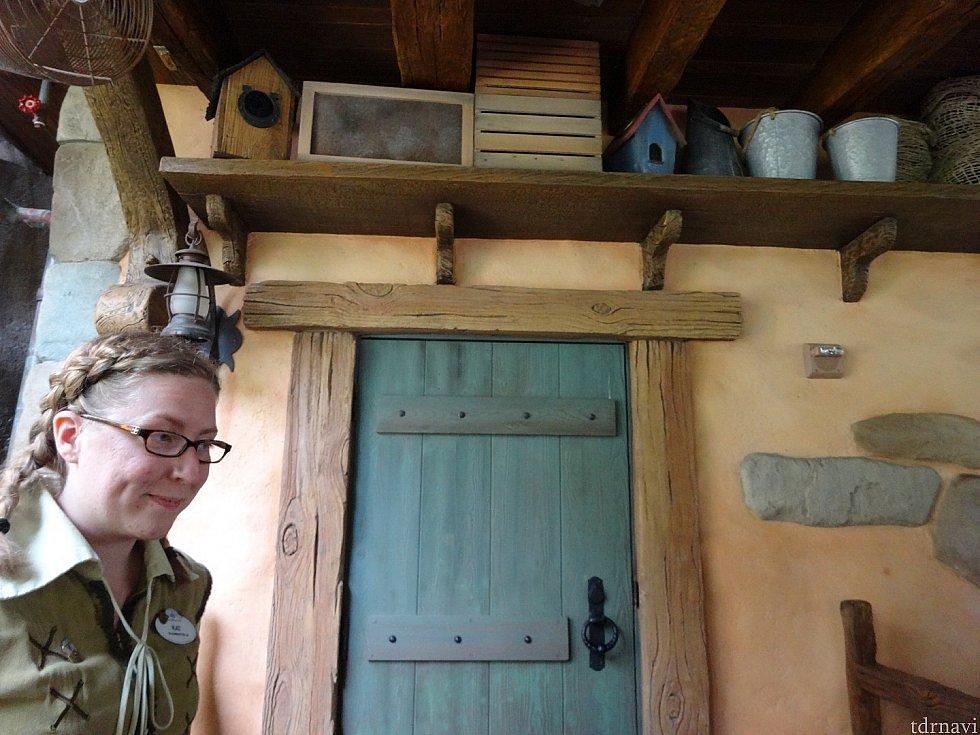 入り口です。ここから夢の世界へ。