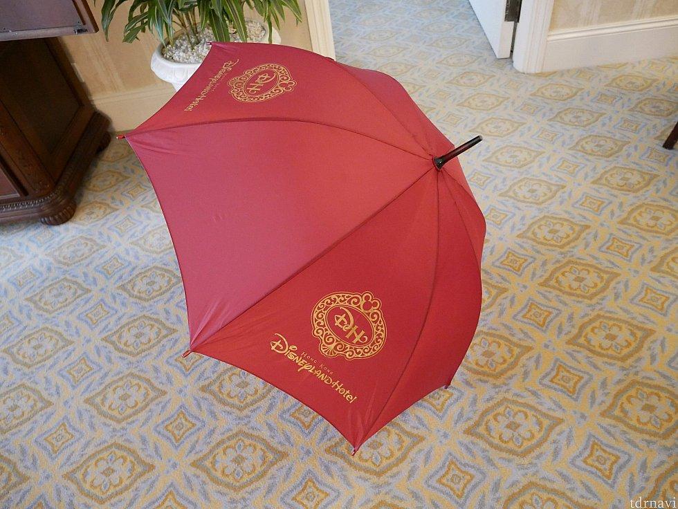 宿泊したら傘の貸出があります。