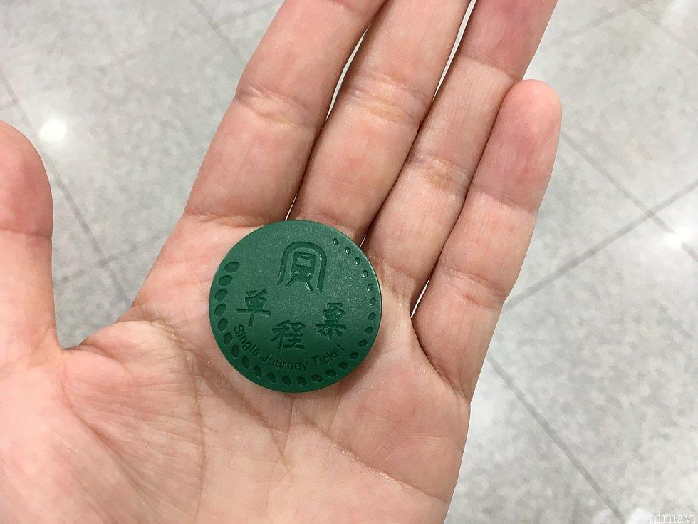 地下鉄のキップはコイン型。IC機能が付いており、改札にかざして通過します。空港から国境の羅湖駅には1時間弱で到着。乗換が1回発生します