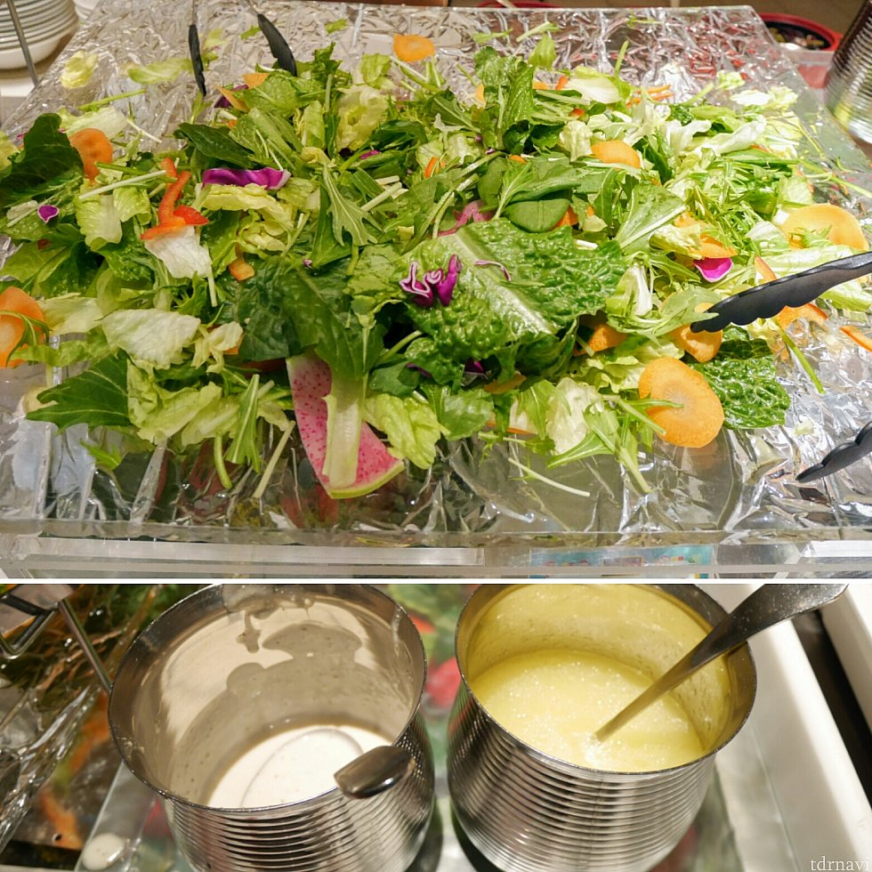【サラダ】ドレッシングは4種類!ドレッシングが選べるってだけで嬉しいです(笑)