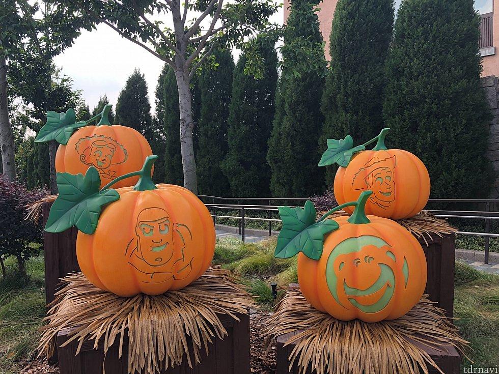 ディズニータウンにもかぼちゃが豊作!