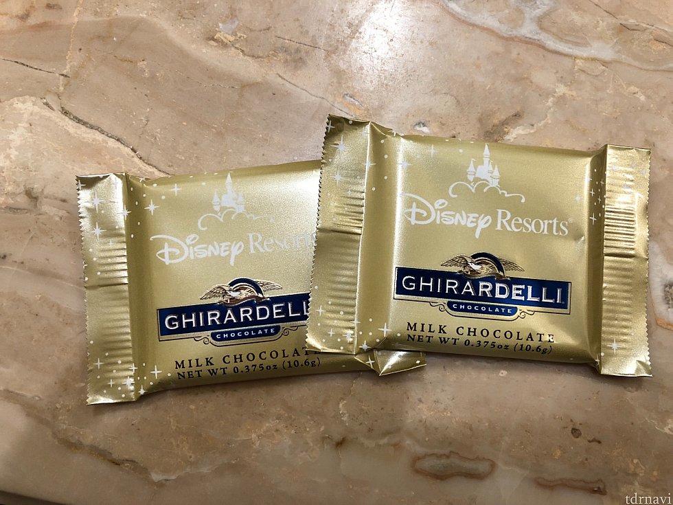 ギラデリのチョコは部屋のメイキング後に毎日置いて下さってました。(他のホテルや部屋にもあるかもですがここしか泊まったことがないので分かりません😂)
