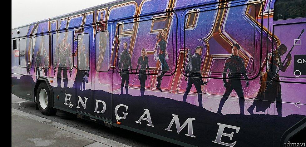 バスがアベンジャーズでした!!
