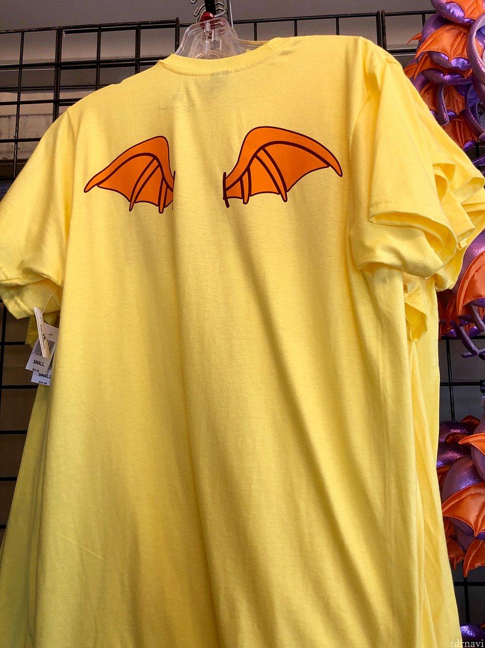 フィグメントのTシャツは、彼の羽が後ろに。$24.95