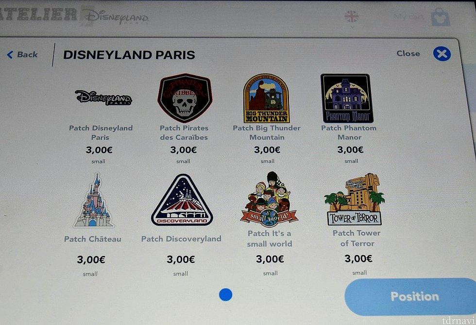 PATCH(ワッペン)→DISNEYLAND PARIS